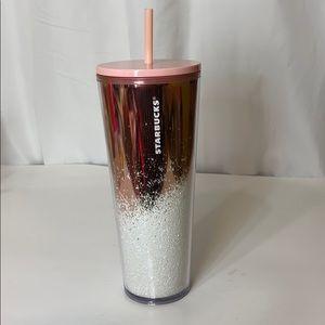 Starbucks LE Pink Snow Tumbler Holiday 2019